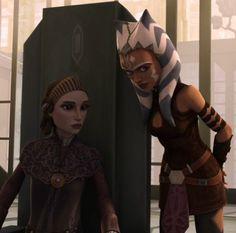 Ahsoka and Padme Star Wars Rebels, Star Wars Clone Wars, Star Wars Girls, Ahsoka Tano, Star War 3, Ewok, Love Stars, Star Wars Characters, Fiction