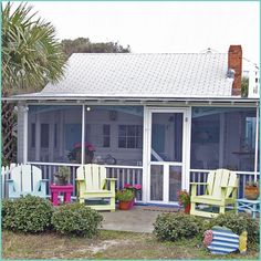 I love the screened in porch - perfect for enjoying a day with your favorite book and drink
