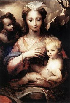 Madonna col Bambino e San Giovannino (D. Beccafumi, 1538-40, Galleria Nazionale d'Arte Antica, Palazzo Barberini, Roma)