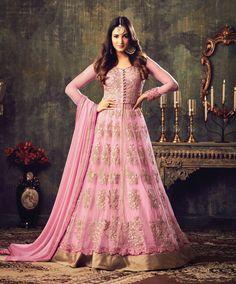 Online Shopping for Indian Dresses & Latest Bridal Wear - Lehenga Choli, Wedding Sarees, Salwar kameez, Sherwani, Ethnic & Modern Outfits and More. Buy Now! Designer Anarkali, Designer Salwar Kameez, Robe Anarkali, Costumes Anarkali, Bridal Anarkali Suits, Salwar Suits, Abaya Style, Pink Kurti, Abaya Mode