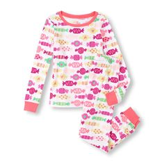 Long Sleeve Candy Top and Pants PJ Set
