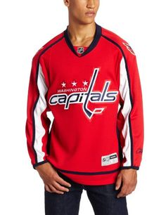 NHL Washington Capitals Premier Jersey, Red, X-Large ** Details can be found by clicking on the image.