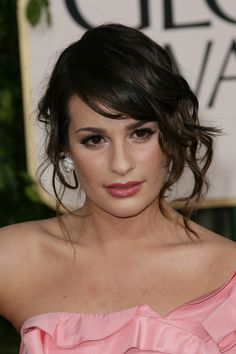 Lea Micheles romantic, updo hairstyle