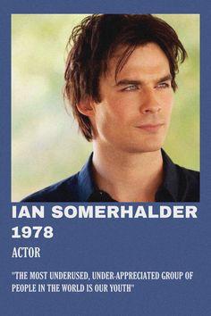 Poster On, Poster Wall, Polaroid, Ian Somerholder, Vampire Diaries Seasons, Damon Salvatore, Minimalist Poster, Album Covers, Twilight