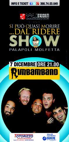 SPQM SHOW il 7 dicembre presso il Palapoli di Molfetta. www.daccolti.com