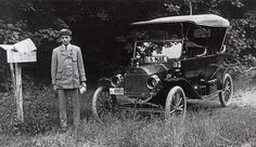 Uniformed Rural Letter Carrier and Vehicle by Smithsonian Institution, via Flickr