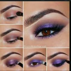 Create The Look W/ Elf & M.A.C Get this look with three easy  steps black eyeliner , purple  eyeshadow  and lash extension. I have all three in this discounted makeup bundle. MAC Cosmetics Makeup Eyeshadow