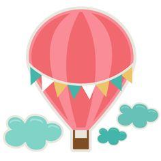Kids Bathroom Hot Air Balloon SVG cutting file for scrapbooks svg cut files free svgs Hot Air Balloon Clipart, Air Ballon, Silhouette Online Store, Cute Clipart, Baby Shower Balloons, Silhouette Design, Scrapbooks, Digital Scrapbooking, Applique