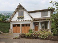 Garage Door Updates - Makeovers for Garage Doors - House Beautiful. Fake wood and windows.