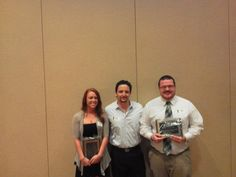 Dr. Keith Weber with recipients of the M.A. Program Peer Collegiality Award
