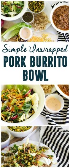 Unwrapped Pork Burrito Bowl #IC #Ad #EatSmartVeggies http://www.BrightGreenDoor.com @EatSmart
