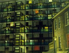 Camberwell Flats by Night (1983), by David Hepher