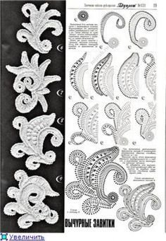 Crochet Patterns Stitches Video of crochet flowers that you can also use for Irish Lace . Irish Crochet Patterns, Crochet Motifs, Crochet Diagram, Freeform Crochet, Crochet Chart, Crochet Designs, Crochet Stitches, Knit Crochet, Knitting Patterns