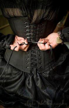Black Corset.