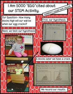Golden Gang Kindergarten - AMAZING STEM activity - will have to do next year with dinosaur eggs!