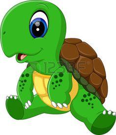 turtle pose: illustration of Cute turtle cartoon