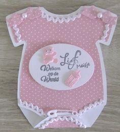 GREET'S KAARTENSITE Baby Girl Cards, New Baby Cards, Baby Shower Invitaciones, Baby Album, Baby Shower Cards, Marianne Design, Diy Birthday, Birthday Cards, Handmade Baby