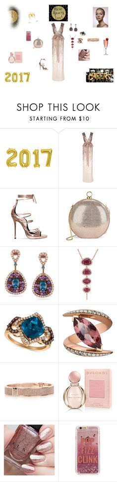 """A Rose-y Outlook For 2017"" by browncoat4ever ❤ liked on Polyvore featuring Monique Lhuillier, Halston Heritage, Miadora, Anne Sisteron, LE VIAN, Shaun Leane, River Island, Bulgari and Agent 18"