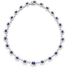 Platinum, Sapphire and Diamond Necklace | Lot | Sotheby's ❤ liked on Polyvore featuring jewelry, necklaces, diamond necklace, sapphire jewelry, wine jewelry, diamond jewellery and platinum jewelry