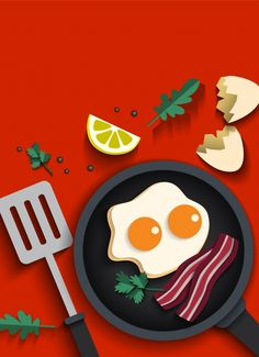 Food Graphic Design, Food Design, Flat Design Illustration, Graphic Illustration, Best Keto Cookbook, Affinity Designer, Arte Pop, Kitchen Art, Food Illustrations