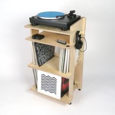 Line Phono Turntable Stand in Baltic Birch