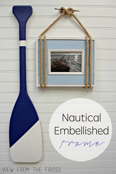 This DIY Nautical Embellished Picture Frame is easy to make and oh so cute!