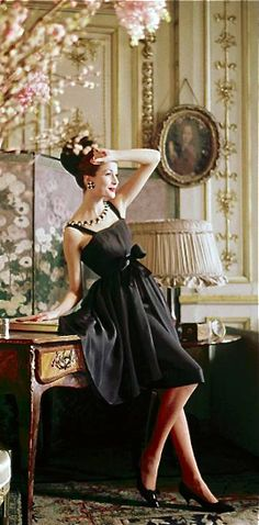 Christian Dior .. by Mark Shaw Dior Glamour 1952-1962. Little Black Dress