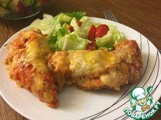 """Куриные грудки по-итальянски"""":      Грудка куриная — 2 шт     Яйцо куриное — 2 шт     Соевый соус — 3 ст. л.     Перец душистый — по вкусу     Крошка хлебная     Специи (смесь итальянских трав) — по вкусу     Пармезан — по вкусу     Соус (маринара) — по вкусу"""