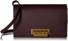 ZAC Zac Posen Earthette Crossbody, Merlot >>> Check out the image by visiting the link. Latest Handbags, Peep Toe Flats, Zac Posen, Leather Handbags, Crossbody Bag, Wallet, Womens Fashion, Shopping, Cross Body