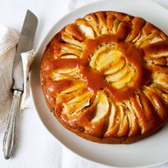 Spiced apple sour cream cake    The flavours of this moist apple cake recipe will develop on keeping – if it lasts that long