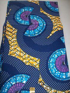 Blue mix African print fabric per yard/ Wax print fabrics/ African fabrics/ African designs/ African clothing