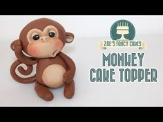 MONKEY CAKE TOPPER using gum paste or polymer clay - YouTube