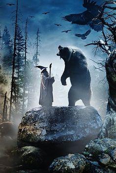 The Hobbit, para quien no lo sepa, el oso es Beorn, que es un hombre-oso