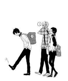 The usual everyday school life can be rather boring, don't you think? Manga Anime, Manga Art, Anime Guys, Anime Art, Black And White Baby, Black And White Pictures, Cool Anime Pictures, Rilakkuma, Manga Illustration