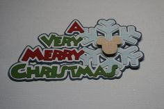 Disney  A Very Merry Christmas  Die Cut Paper Pieced by Wallscraps