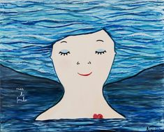 Naive, Diy And Crafts, Disney Characters, Fictional Characters, Mermaid, Mindfulness, Disney Princess, World, Painting