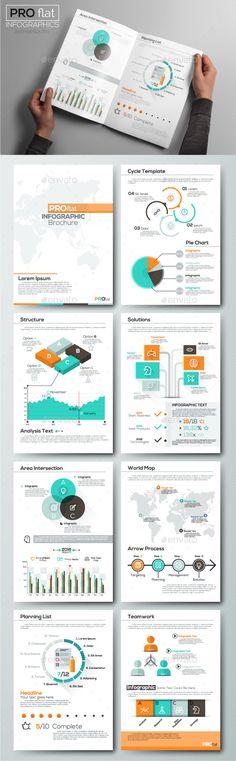 Pro Flat Infographic Brochure Set 7 Ai Illustrator Brochure