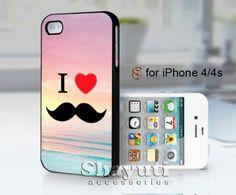 i love mustache beach - design case for