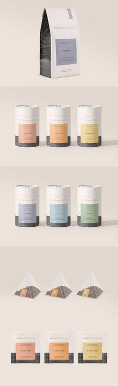Minimal Tea Packaging Design inspired by coastal Australia. Minimal Tea Packaging Design inspired by coastal Aust Website Design, Web Design, Label Design, Branding Design, Graphic Design, Food Design, Design Ideas, Coffee Packaging, Brand Packaging