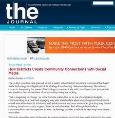 How Districts Create Community Connections with Social Media