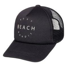 finest selection bb8ac cbfa5 Roxy Truckin Trucker Hat - True Black Surf Companies, Truck Caps, Beach Hats ,