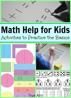 Math help for kids - fun activities to help practice the basics and boost confidence.