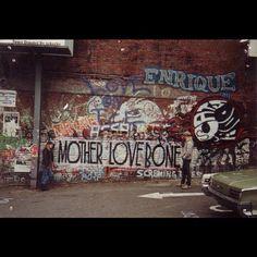 The original Mother Love Bone mural in Seattle, WA