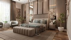Dream Master Bedroom, Master Bedroom Interior, Room Design Bedroom, Bedroom Furniture Design, Home Room Design, Master Bedrooms, Bedroom Designs, Bedroom Wall, Luxury Furniture