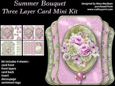 Summer Bouquet Three Layer Card Mini Kit on Craftsuprint - View Now!