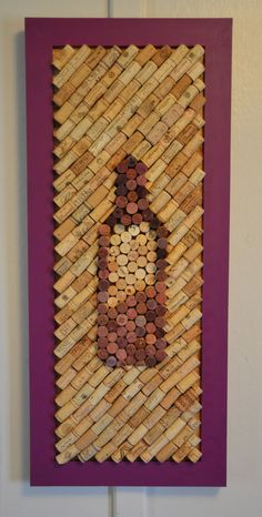 "Wine Cork Board, Raspberry Mousse, 36"" x 15.5""  Memo Board Kitchen or Home Decor Photo Prop on Etsy, $90.00"
