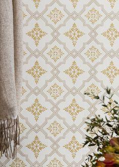 Interior Wallpaper, Old Wallpaper, Modern Wallpaper, Designer Wallpaper, Pattern Wallpaper, Swedish Wallpaper, Wallpaper Ideas, Yellow Wall Decor, Sweden House