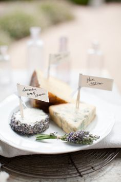 Camembert, Brie, Manchego, with Lavender. Brie, Antipasto, Provence Wedding, Wine Cheese, Goat Cheese, Stilton Cheese, Cheese Platters, Cheese Table, Edible Flowers