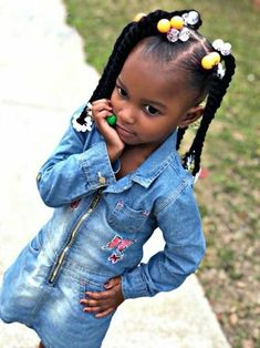 Black Kids Hairstyles with braids, Beads and Other Accessories . - Black Kids Hairstyles with braids, Beads and Other Accessories - Black Kids Braids Hairstyles, Toddler Braided Hairstyles, Toddler Braids, Lil Girl Hairstyles, Braids For Kids, My Hairstyle, Black Braids, Short Hairstyles, Natural Hairstyles