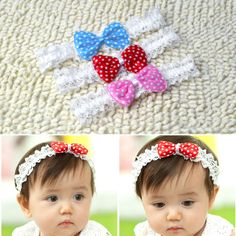 Cute Baby Toddler Kids Girls Princess Butterfly Knot Bow Hair Band Hair Bow Accessories